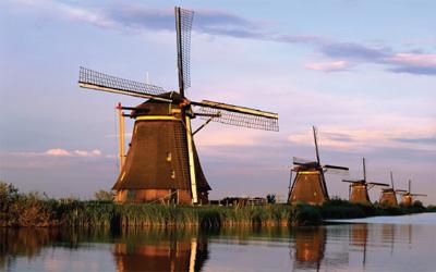 вятърни мелници в Нидерландия