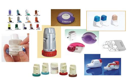 Фиг. 2. Различни видове инхалаторни устройства.