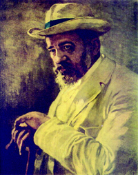 """Никола Петров - """"Портрет на Пенчо Славейков. 1910 г."""""""